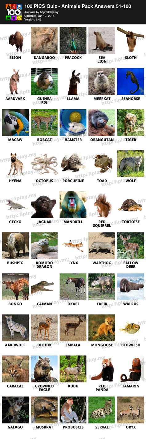 pics quiz animals pack answers iplaymy page