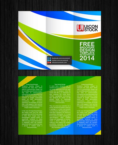 free design brochure templates free printable brochure design template