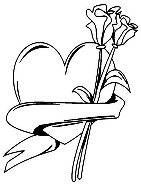 coloring pages flowers and hearts pin by sania indira on valentines coloring pages pinterest