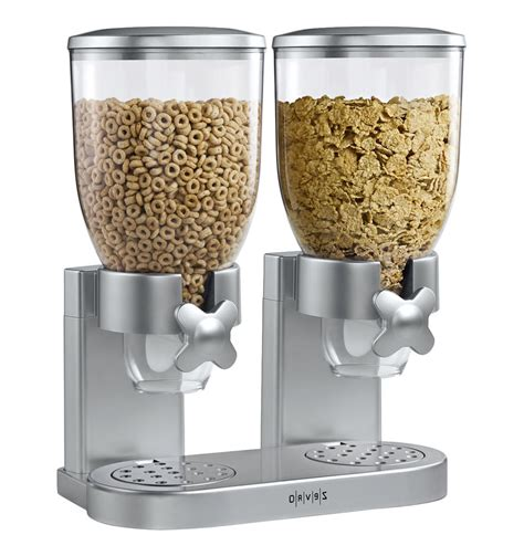 White Kitchen Canisters New Zevro Dual Dry Food Nut Cereal Candy Indispensable
