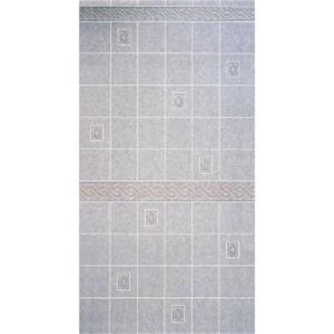 bathroom paneling home depot aquatile 1 8 in x 4 ft x 96 in alicante tile board