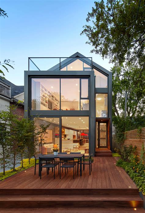 home exterior design toronto situated on a narrow lot in an toronto neighborhood the sky garden house provides outdoor