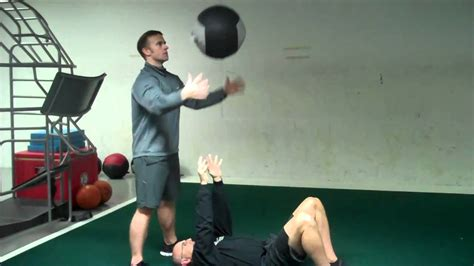 stability ball bench press medicine ball bench press youtube