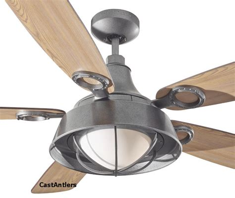 antler ceiling fan with light wanted imagery