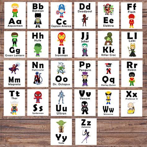 free printable alphabet flash cards australia abc printable flash cards learning toys superhero printable