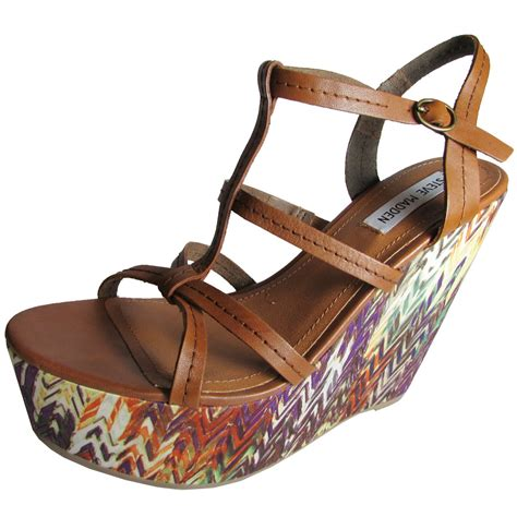 Steve Madden P by Steve Madden Womens P Platform Wedge Sandal Shoe Ebay