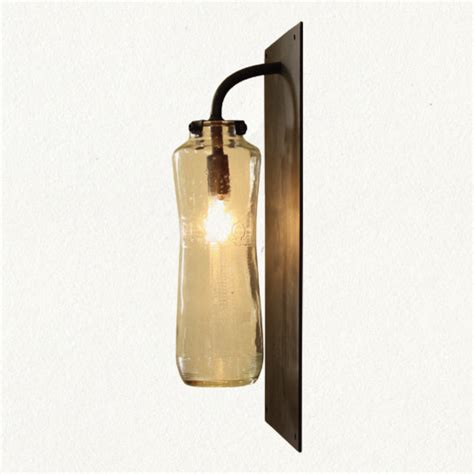 Glass Wall Sconce Recycled Glass Sconce Eclectic Wall Sconces
