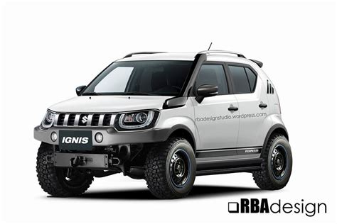 Suzuki Ignis Spoiler Jsl Warna Custom Spoiler M Sporty what if the maruti ignis had roading traits rendering