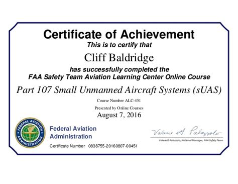 Certificate Of Studentship Global Engineer faa drone certificate suas small unmanned aircraft systems