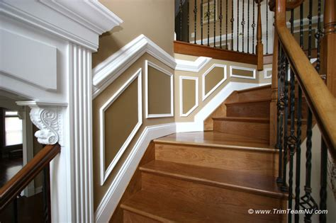 Wainscoting Picture Frame Molding by Wainscot And Picture Frames Traditional Staircase By