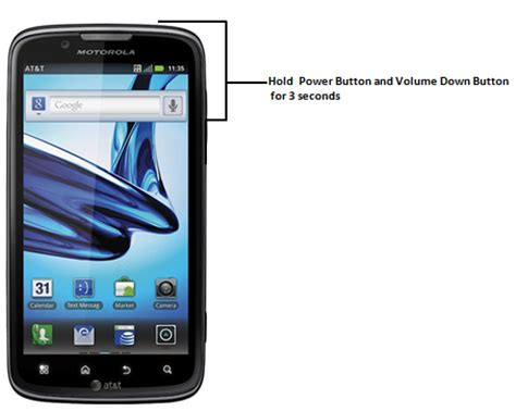 how to take screenshot on motorola atrix 2 android phone