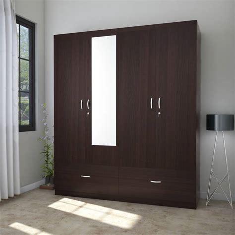four door ellipse style wardrobe hometown utsav engineered wood 4 door wardrobe price in india buy hometown utsav engineered