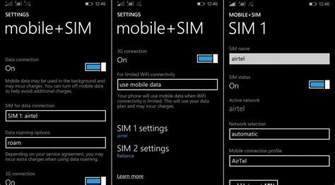 dual sim windows mobile dual sim settings app released for windows 10 mobile
