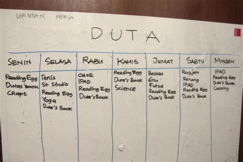membuat jadwal kegiatan dirumah membuat jadwal homeschooling rumah inspirasi