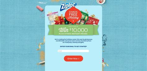 Holiday Instant Win Games - ziploc chaos free holiday instant win game and sweepstakes over 19 000 in prizes