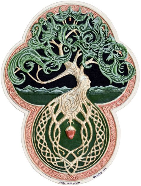 tattoo paper ireland celtic tree of life cast paper tree green arbor big