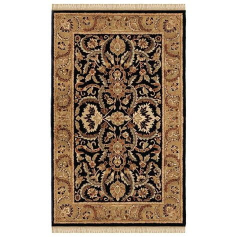 rugs home decor linon home decor rosedown collection black and gold 5 ft