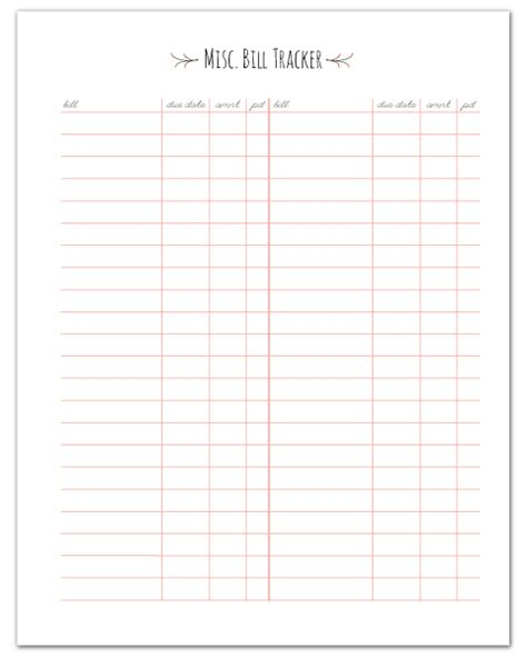 monthly bill planner calendar template 2016