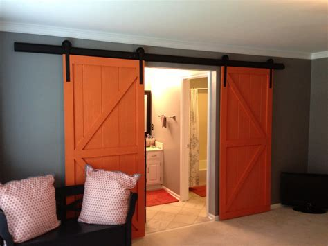 Interior Barn Door Hardware Home Depot by Interior Barn Door Hardware Home Depot With Large Orange