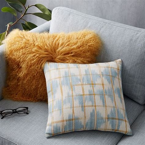 mongolian pillow cover horseradish 12 quot x 16