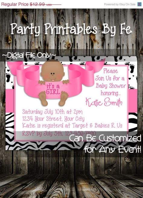 on sale printable baby shower invitation it s a girl