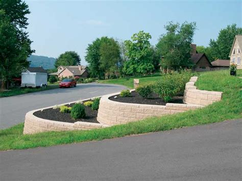 hill driveway design tiered side driveway retaining wall every time you pull
