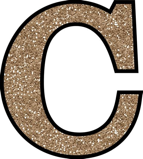 Alphabet C free glitter alphabet to and print