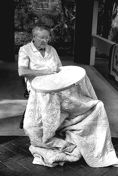 Florida Memory - Woman quilting- White Springs, Florida