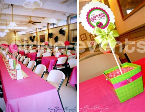 Pink Ladybug Baby Shower Decorations by Pink And Green Ladybug Baby Shower Ideas
