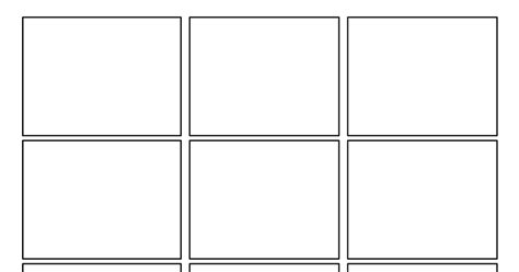 4 square template 3rd grade second batch of comic templates