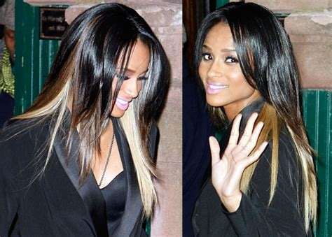 lowlighting the hair under the top layer create instant contrast like ciara popsugar beauty