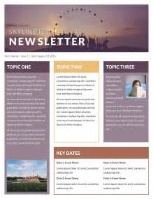 newsletter templates free template idea