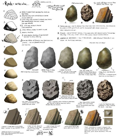 7 Drawing Techniques by How To Draw And Color Rocks By Pandora 9 On Deviantart