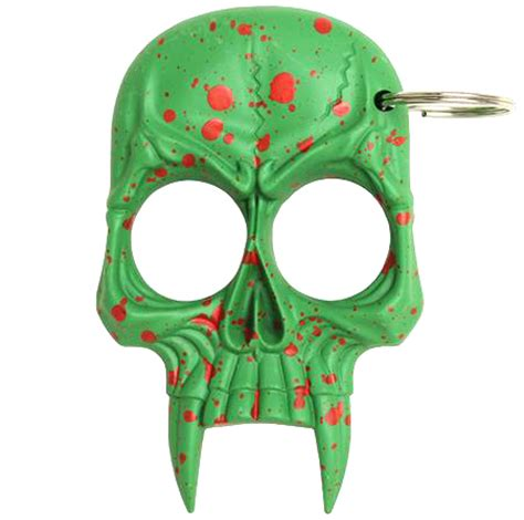 zombie skull 2 finger knuckle skull 2 finger knuckle keychain green