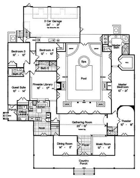 30 best u and h shaped house plans images on pinterest