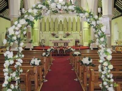 Wedding Arch Inside Church by White And Gold Wedding Wedding Arches Wedding Arch