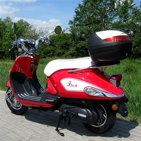 Versicherung F R Motorroller 50ccm by Motorroller 50ccm Retro Roller Mit 45 Km H Flash Rot