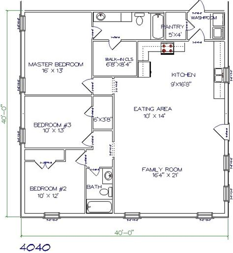 Home Design 40 40 | 40 x 40 house plans home design