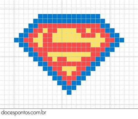 cross stitch pattern superman logo superman cross stitch yarn fabric crafty projects