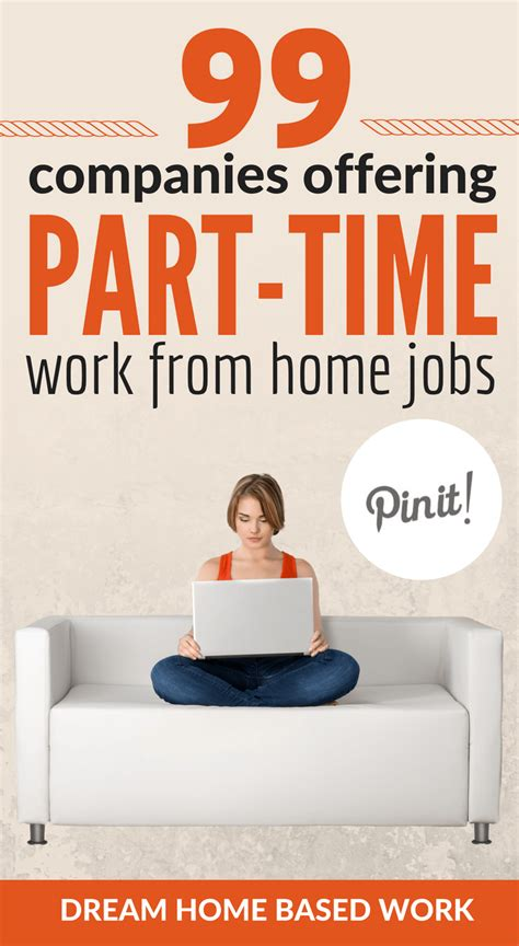 99 companies offering part time work at home