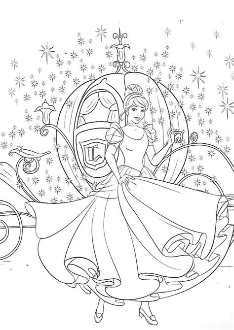 pin  jody kyle  coloring pages cinderella coloring pages
