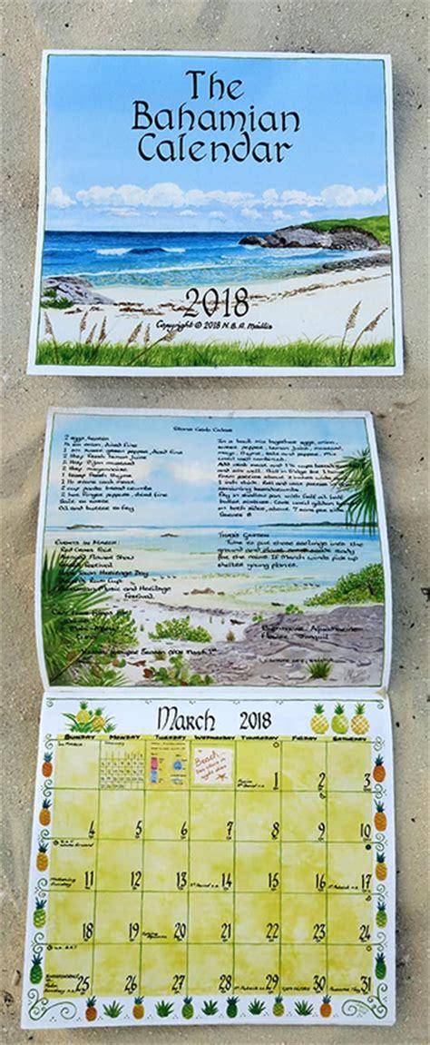 Bahamas Calend 2018 The Bahamian Calendar Nassau Nassau Paradise Island