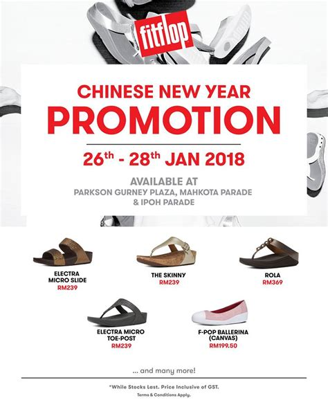 parkson new year 26 28 jan 2018 parkson fitflop new year promotion