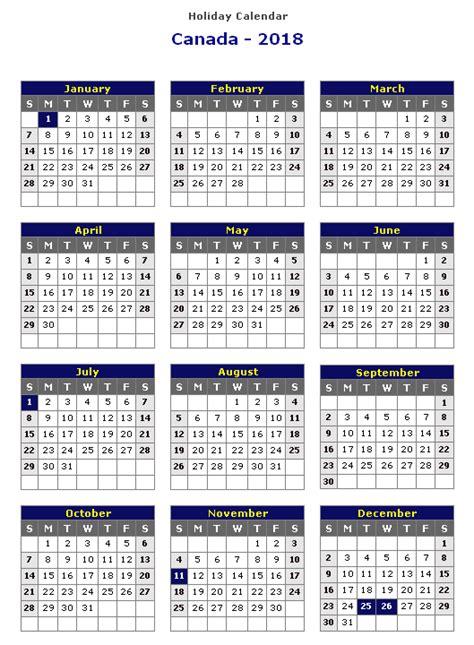 Calendar 2018 Canada Holidays 2018 Calendar Canada Printable Calendar Templates