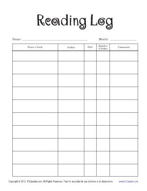 reading log cover printable the gallery for gt blank book cover printable