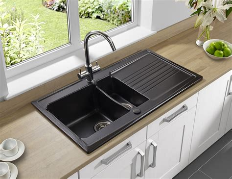 sink with built in drainboard astracast equinox 1 5 bowl white ceramic inset kitchen