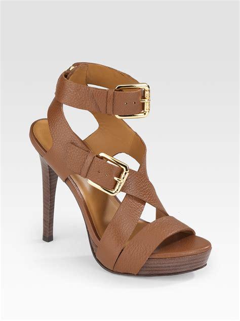 michael kors platform sandals kors by michael kors platform sandals in brown