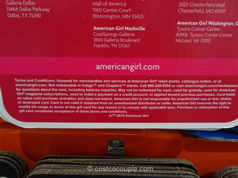 American Girl Gift Card Costco - american girl gift card