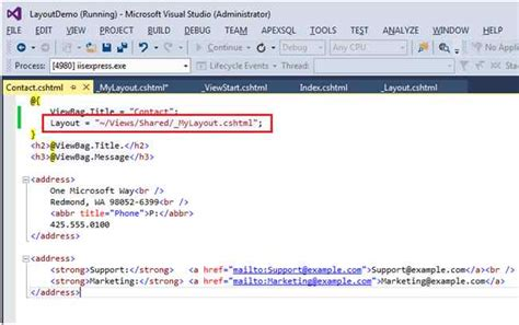 how to design layout in mvc 5 learn about layout page in asp net mvc