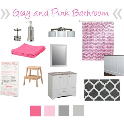 gray and pink bathroom